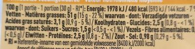 Halfgedroogde tomaten - Nutrition facts