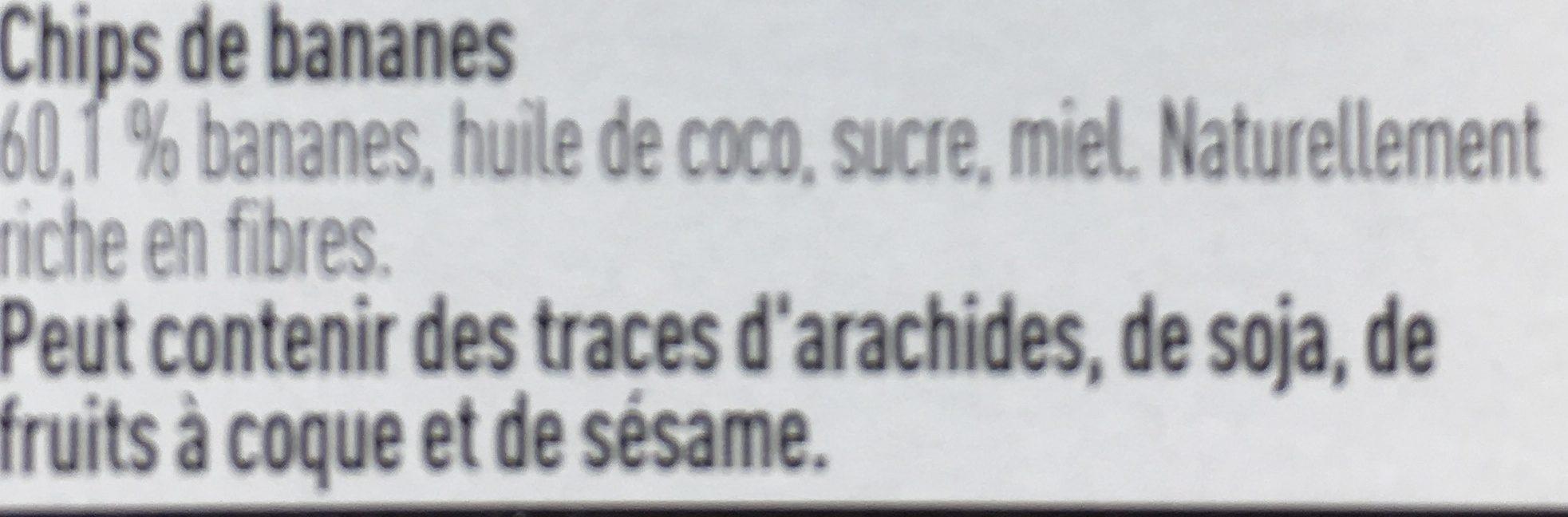 Chips de Bananes - Ingrediënten - fr