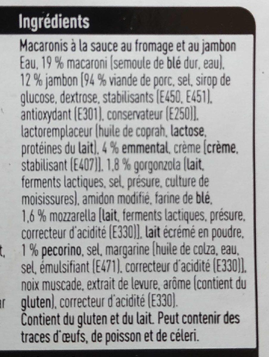 Macaroni jambon et 4 fromages - Ingredienti - fr