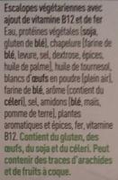Veggie Schnitzels Escalopes - Ingrediënten - fr