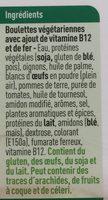 Boulettes Veggie - Ingrediënten - fr