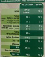 Boulettes Veggie - Voedingswaarden - fr