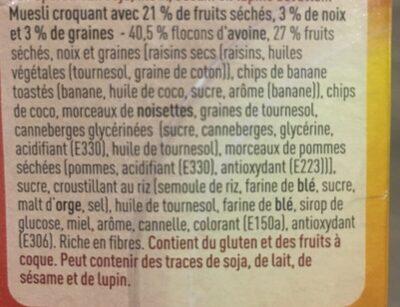 Crunchy Muesli - Ingrédients