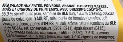 Spirelli Hawaii - Ingrediënten - fr
