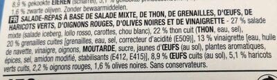 Salade niçoise - Ingrédients