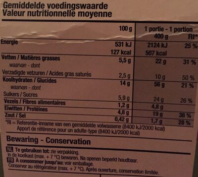 Salade au fromage de chèvre - Voedingswaarden - fr