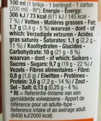 Lait choco - Voedingswaarden