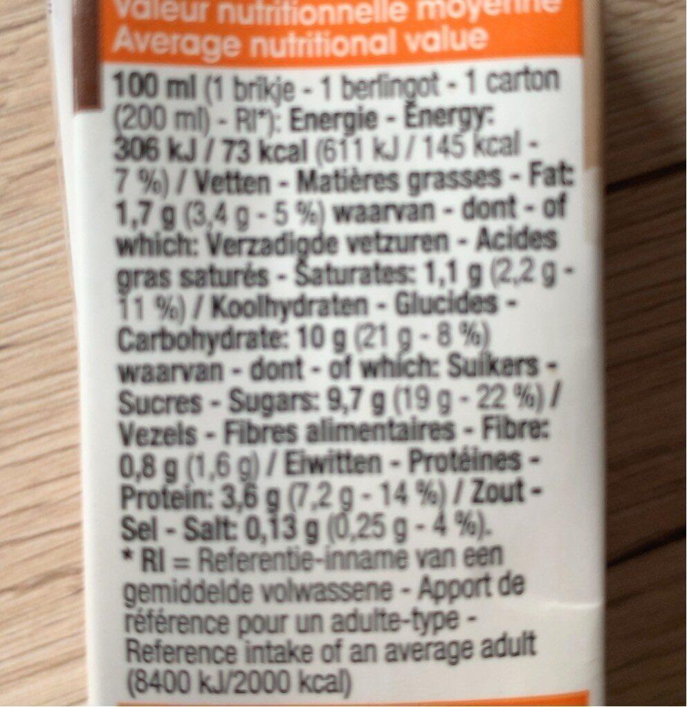 Lait choco - Voedingswaarden - fr