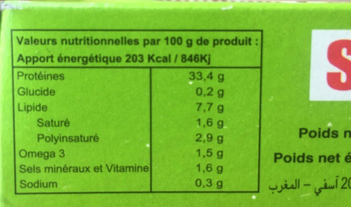 Sepia Filletes Of Mackerel In Oil - Ingrédients - fr
