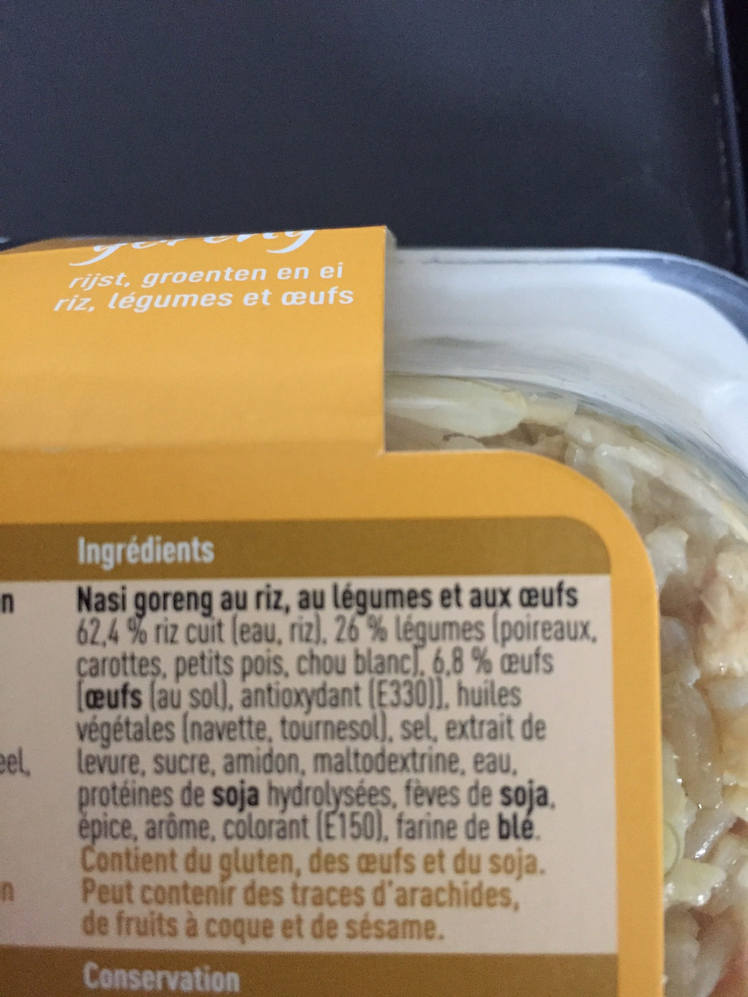 Boni Selection Nasi goreng - Ingrediënten - fr