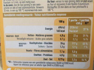 Boni Selection Nasi goreng - Voedingswaarden - fr