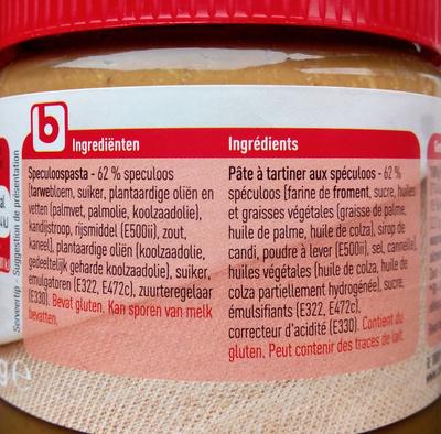 Pâte de Speculoos - Ingrediënten - nl