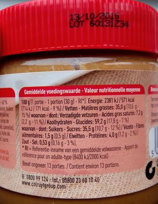 Pâte de Speculoos - Nutrition facts