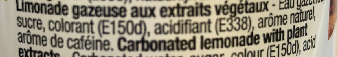 Cola Regular - Ingrédients