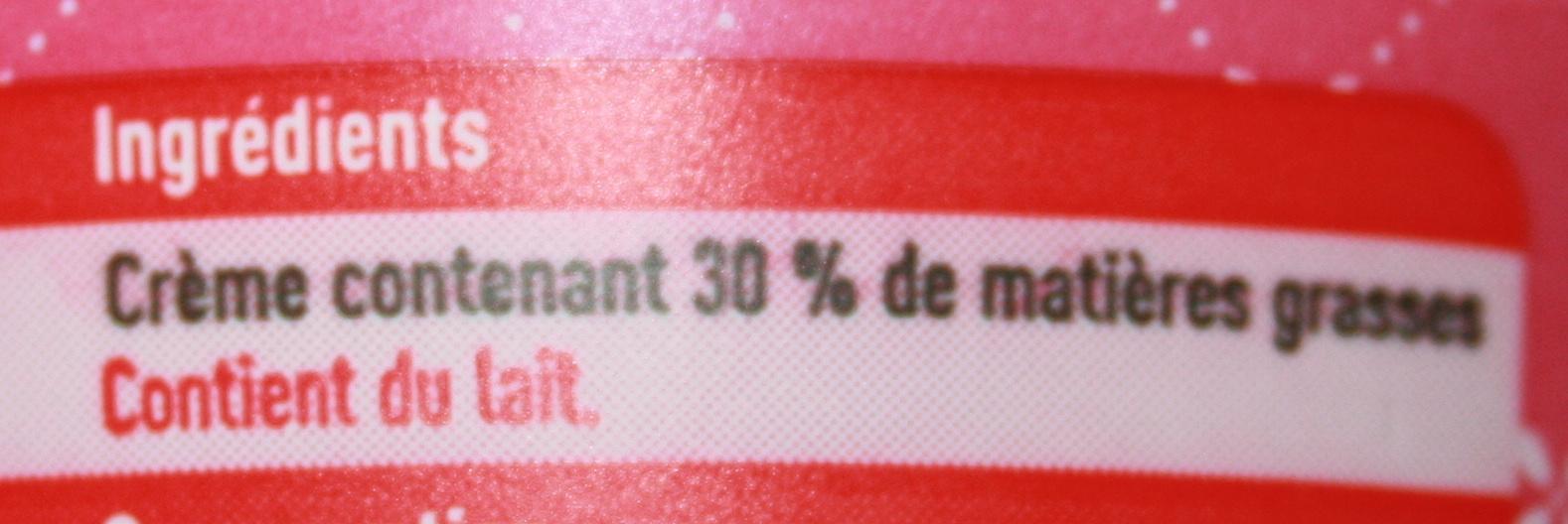 crème épaisse - Ingrediënten - fr