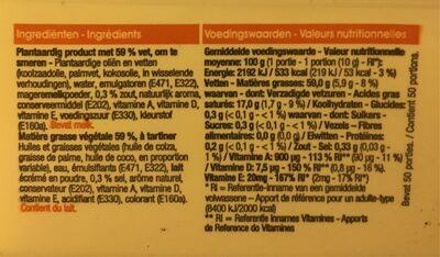 Beurre A Tartiner - Voedingswaarden - fr