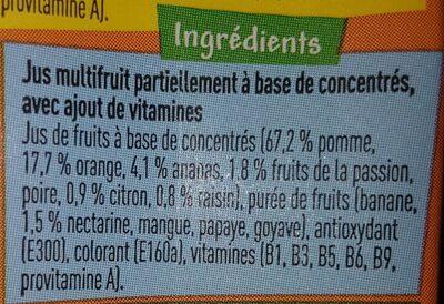 Boni tropical - Ingrediënten - fr