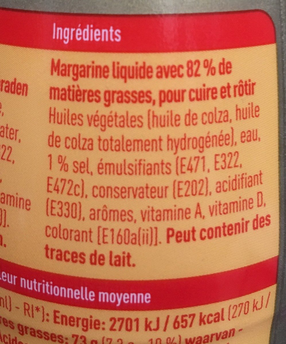 Bakken en braden 100% plantaardig - Ingrédients