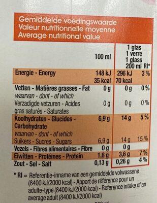 Fraise boisson - Nutrition facts - fr