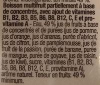 Jus multivitamine - Ingrediënten - fr