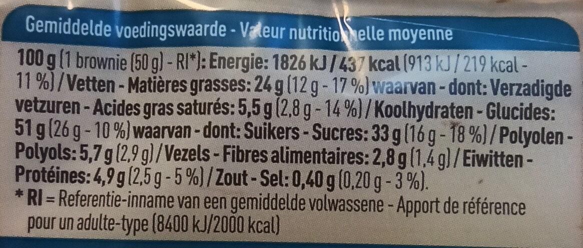 No Gluten Brownies - Voedingswaarden - fr