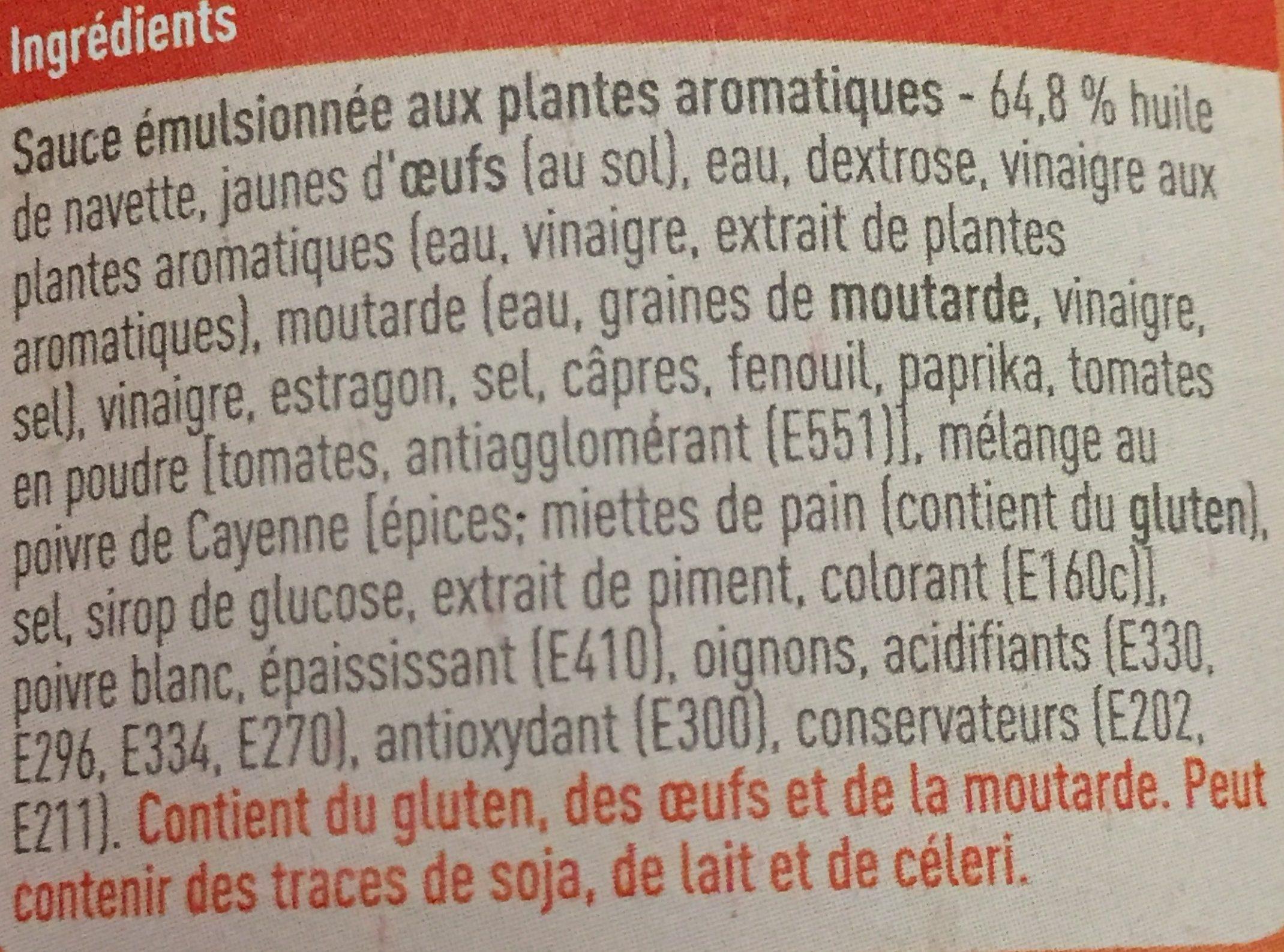 Sauce Andalouse - Ingrediënten - fr