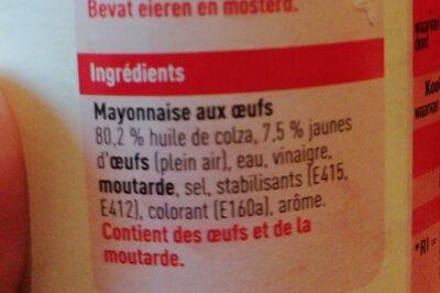 Mayo - Ingredients - fr