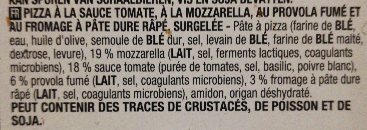 Pizza tre formaggi - Ingredients - fr