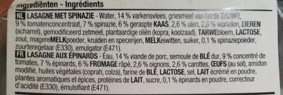 Lasagne verde - Ingrediënten - fr