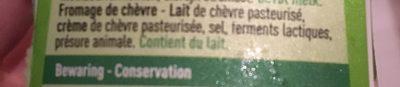 Fromage de chèvre - Ingrediënten - fr