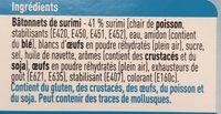 Batonnets de Surimi - Ingrediënten