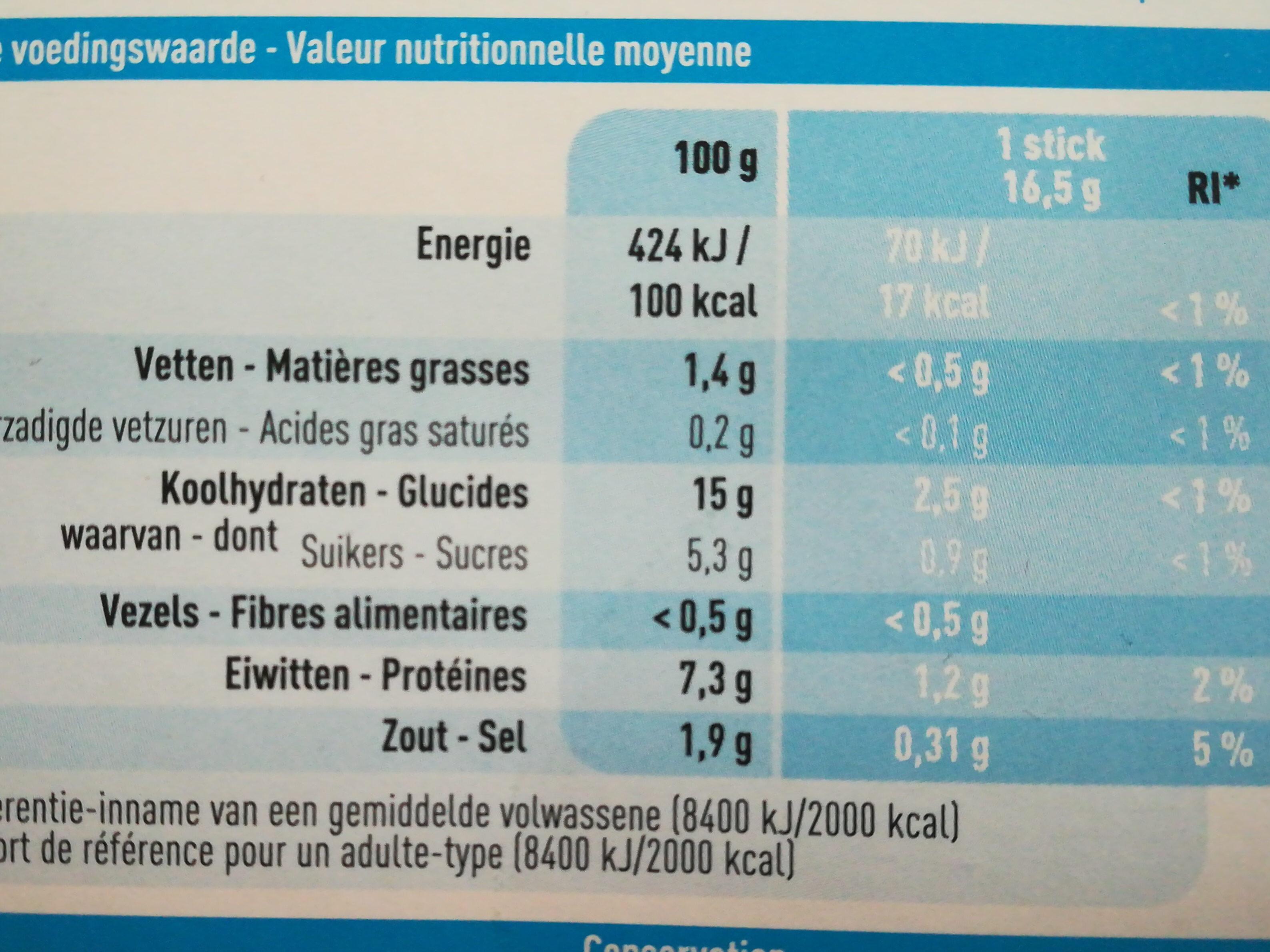Batonnets de Surimi - Informations nutritionnelles - fr