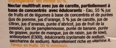 Nectar multifruit - Ingrediënten - fr