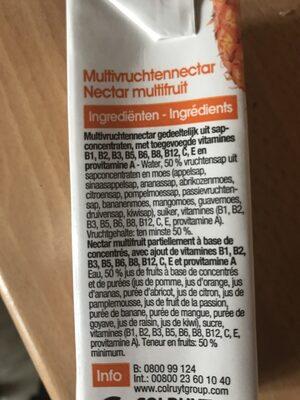 Nectar multifruit - Ingrediënten