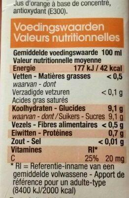 Jus d'orange - Ingrediënten