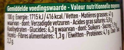 Pesto Verde - 营养成分