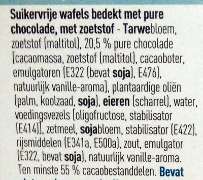 Gaufres au chocolat - Ingrediënten - nl