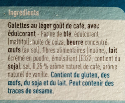 Galettes goût café - Ingredients