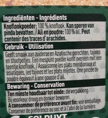 Ail en poudre - Ingrédients - fr