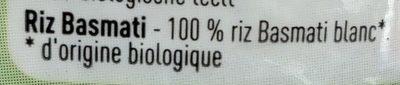 Riz Basmati Bio - Ingrediënten - fr