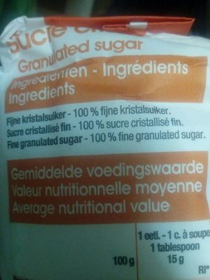 Sucre cristallisé - Ingrediënten