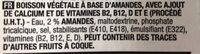 Boisson aux amandes - Ingrediënten - fr