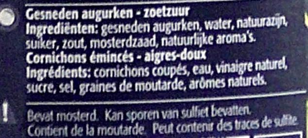 Cornichons aigres-doux - Ingredients - fr