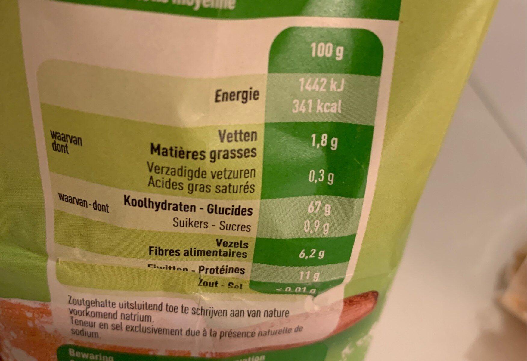 Farine d'epeautre bio - Voedingswaarden
