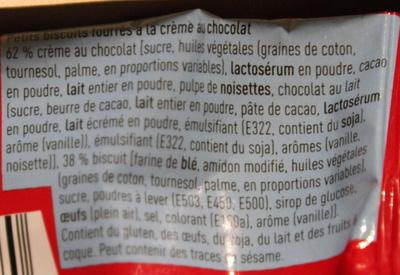 Chococrocs - Ingrediënten - fr