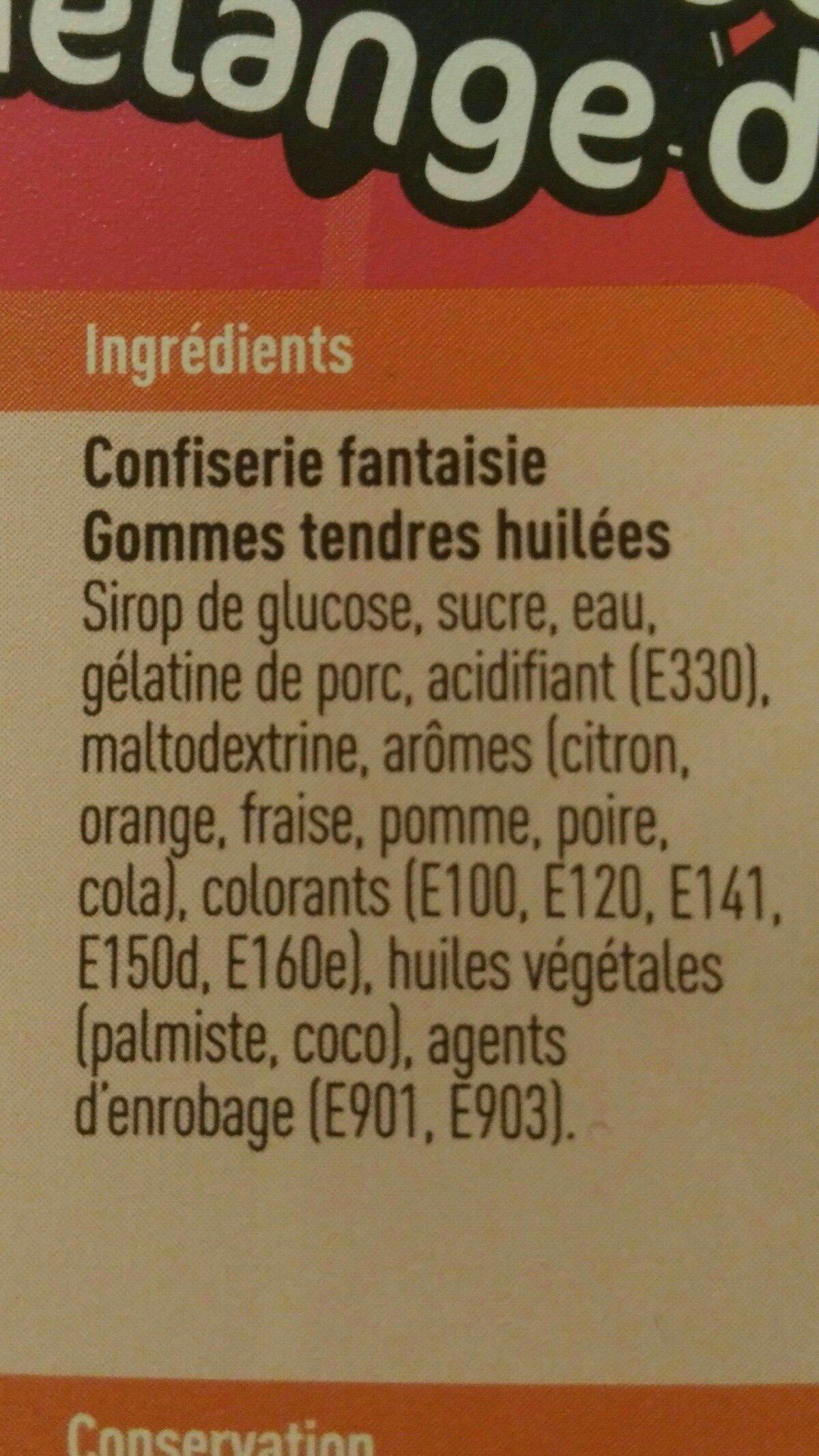 Mélange de bonbons - Ingrediënten - fr