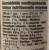 Jus pomme framboise poire Boni - Informations nutritionnelles
