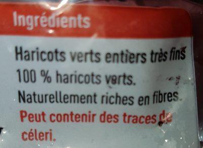 Haricots verts - Ingrediënten