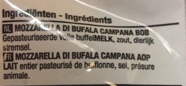 Mozzarela di bufala campana PDO - Ingrediënten