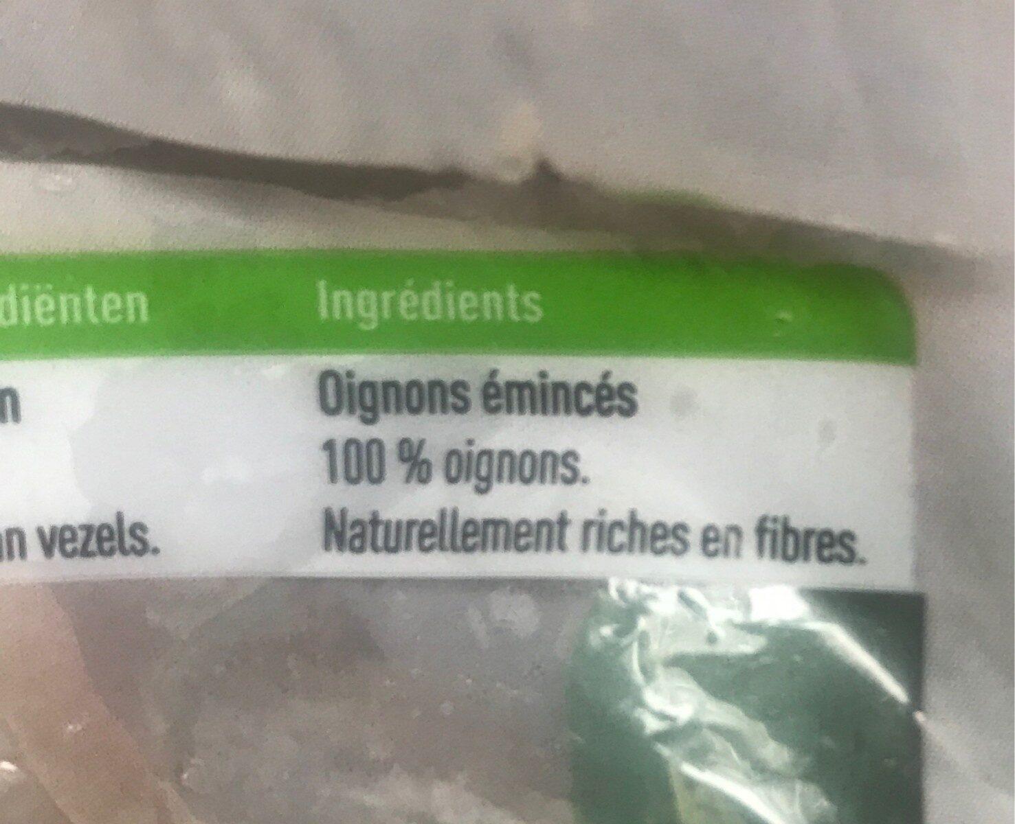 Oignons émincés - Ingrediënten - fr